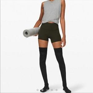 Lululemon savasana thigh high gray socks